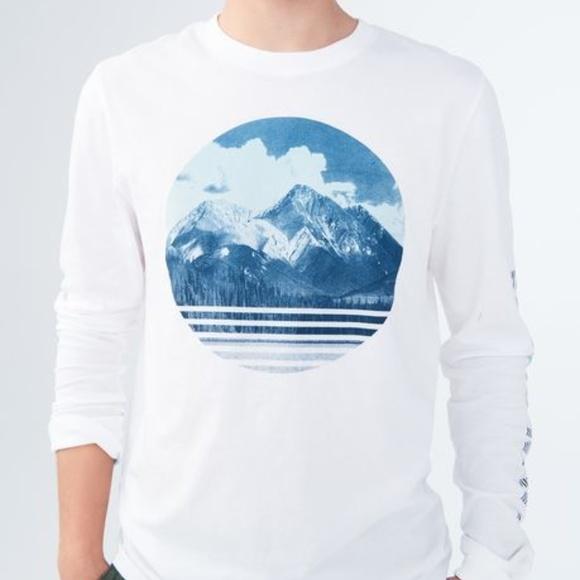 829e9cb66 Aeropostale Shirts | Long Sleeve Aero Mountain Graphic Tee | Poshmark